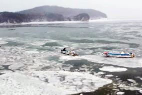 최강 한파로 서산 가로림만 바닷물이 얼었다!